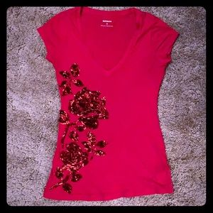 Sequin detail t-shirt